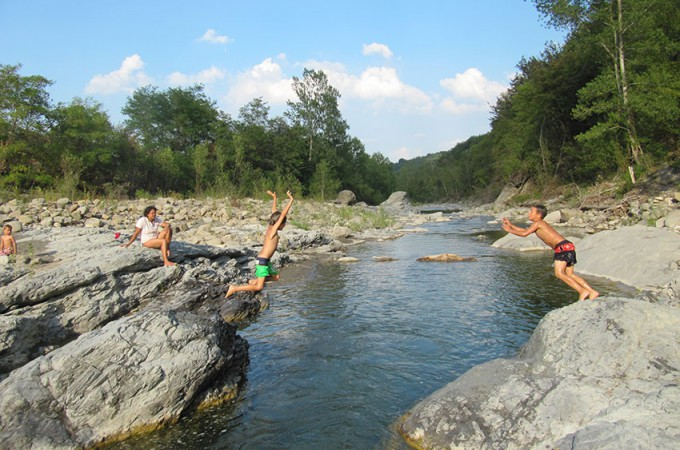 swimming hole River dolo